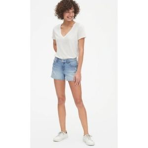 "Gap Mid-Rise Light Destroyed 3"" Denim Short 27"